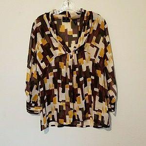 Sheer blouse large